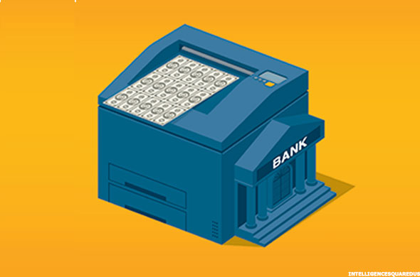 central bank printing press