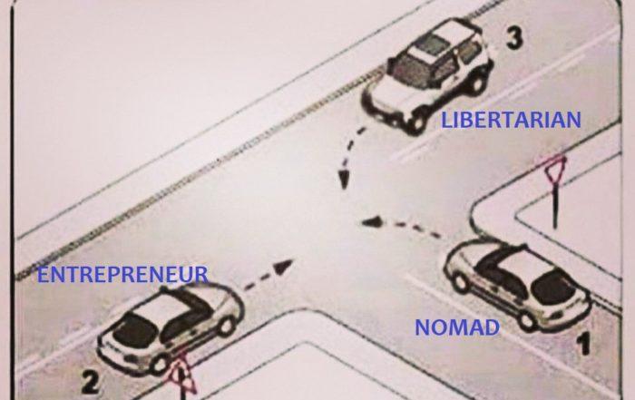 Libertarian entrepreneur nomad intersection